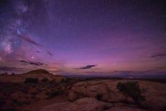 Milky Way over the Canyon near the Lake Powell Utah Stock Photo