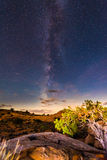 Milky Way over the Canyon near the Lake Powell Utah Stock Photography