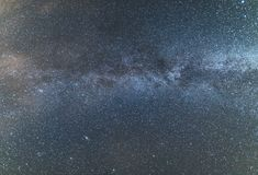Milky Way over the clear night sky Royalty Free Stock Photography