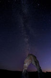 Milky Way over the Delicate Arch of Arch NP Royalty Free Stock Image