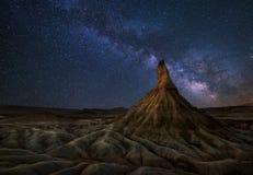 Milky Way over the desert Stock Photo