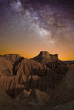 Milky Way over the desert Stock Image