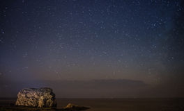 Milky Way over Fungus Rock Royalty Free Stock Photo