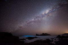 Milky Way over the Indian Ocean Royalty Free Stock Photos