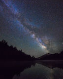 Milky Way Over Mountain and Lake Royalty Free Stock Image
