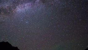 Milky Way over the mountains. Pamir, Tajikistan. stock video footage