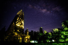 Milky Way over Pagoda Stock Photos