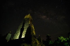 Milky Way over Pagoda Royalty Free Stock Photos