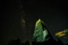 Milky Way over Pagoda Royalty Free Stock Image