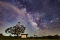 Milkyway over Plana Mountain Royalty Free Stock Image