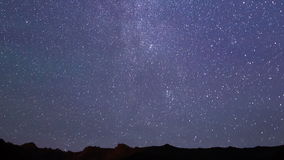 Milky Way over the ridge. Time Lapse stock video footage