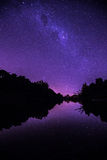 MIlky Way. Over a river with a clean sky Royalty Free Stock Photos