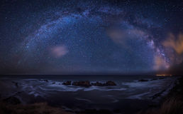 Milky Way over the sea Royalty Free Stock Photos