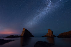 Milky way over the sea, Sinemorets, Bulgaria Royalty Free Stock Photos