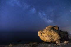 Milky Way over the seashore Royalty Free Stock Images