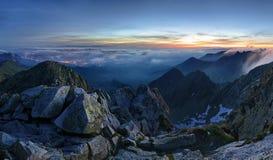 Milky way over Tatras mountain panorama, Poland Royalty Free Stock Photography