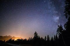 Starry night sky Stock Image
