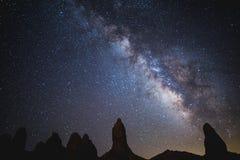 Milky Way Over Trona Pinnacles royalty free stock photo