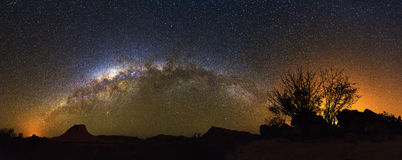 Milky way panorama Madagascar Stock Images