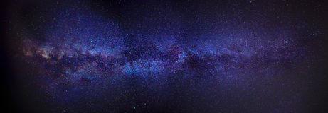 Milky Way Panorama Royalty Free Stock Photography