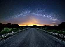 Milky Way Panoramic View Royalty Free Stock Image
