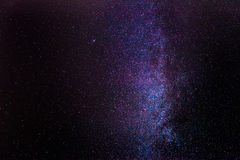 Milky Way. Panoramic view of the Milky Way stitched from 8 individual photos royalty free stock photography