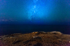 Milky Way. Panoramic view of the Milky Way stitched from 8 individual photos stock photos