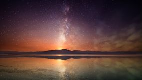 The milky way. In phayao on thailand Royalty Free Stock Image