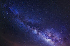 Milky way. At Phu Hin Rong Kla National Park, Phitsanulok Thailand royalty free stock photos