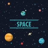 Milky way planets. Cartoons vector illustration graphic design Stock Photos