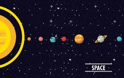Milky way planets. Cartoons vector illustration graphic design vector illustration
