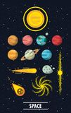 Milky way planets. Cartoons vector illustration graphic design vector illustration graphic design Stock Photos