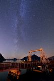 Milky Way at Porteau Cove Provincial Park Stock Images