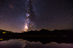 Milky Way Reflection in Lily Lake Colorado Landscape royalty free stock photography