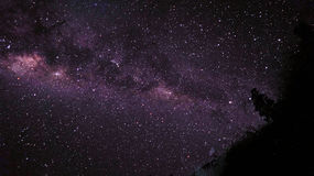 Milky Way at Rinjani Mountain Royalty Free Stock Photo
