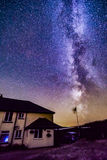 Milky Way rising. Around midnight in Exmoor National Park royalty free stock images