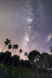 Milky way rising just before dawn in Penang. Amazing Milky way in George Town, Penang Malaysia Royalty Free Stock Photo