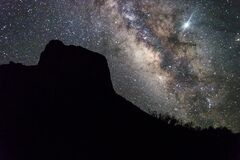 Free Milky Way Rising Over Chisos Basin In Big Bend National Park Royalty Free Stock Image - 172533446