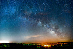 Milky Way rising stock photos