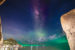 Milky way and the sea Stock Images