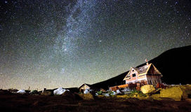 The Milky Way seen from a hut Stock Images