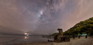 Milky way setting in Penang. A series of milky way collections from George Town City, Penang, Malaysia stock images