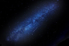Milky Way with shooting star Stock Photo