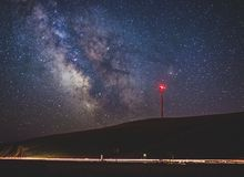 Milky way shot in Goldendale, washington Royalty Free Stock Photography