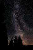 Milky Way. Shot in Lapland, Finland. Also 2 satellites in the picture Royalty Free Stock Images
