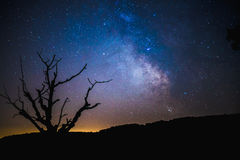 Milky Way in sky Stock Images