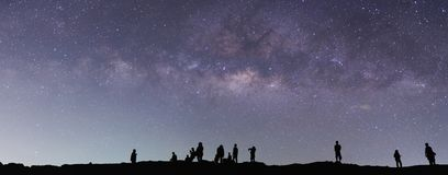 Milky Way on the sky stock photography