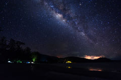 Milky way on the sky Royalty Free Stock Image