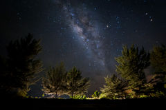 Milky way on the sky. Milkyway galaxy photograph taken at Kudat Sabah. Image may contain soft focus, blur, noise, and grains due to long Expose, High ISO and Royalty Free Stock Image