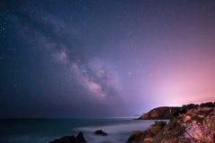 Milky way in the sky of Sardinia. A beautiful milky way in the sky of Sardinia in a day of summer Stock Photo